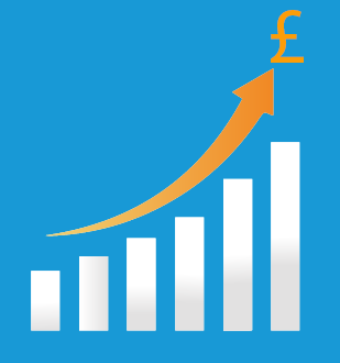Graph pounds salary
